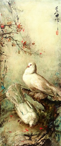 a pair of doves by lee man fong