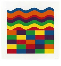 arcs and bands in color (1 work) by sol lewitt