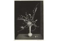 graminees dans un vase en opaline by hasegawa kiyoshi