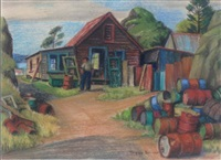 farm scene by peggy spicer