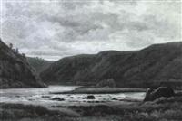 rochers de la madone près de villeret (loire) by louis noirot