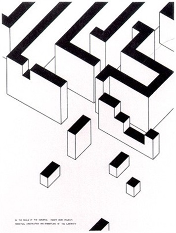 inmate work project: perpetual construction and dismantling of the labyrinth by robert morris