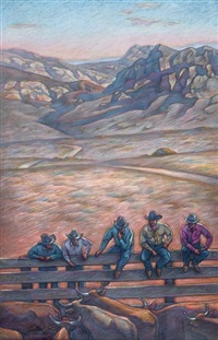 five cattle buyers by howard post