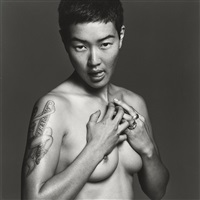 jenny shimizu (from the series: safer sex) by michel comte