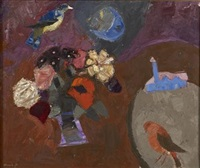 birds and flowers by denis frederic neal peploe