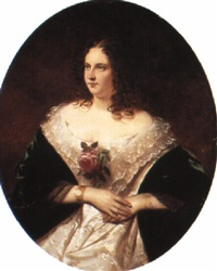 a portrait of bertha von satter by joseph mathäus aigner