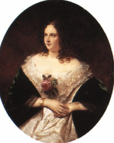 a portrait of bertha von satter by joseph mathäus aigner