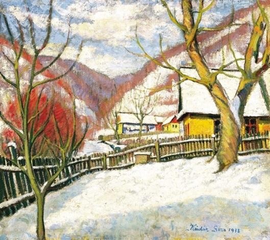 tél nagybányán winter in nagybánya by géza kádár