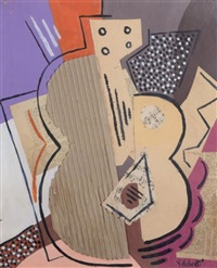 nature morte à la guitare by antonio huberti