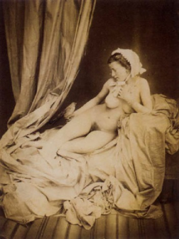 nu féminin à loiseu by joseph auguste belloc