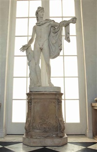 the apollo belvedere (after the antique) by randolph john rogers