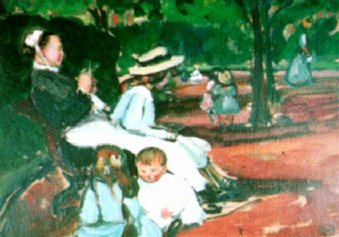 nourrice et enfants au parc monceau by fernand piet on artnet. Black Bedroom Furniture Sets. Home Design Ideas