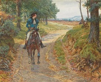 horse and rider by g.w. smetham-jones