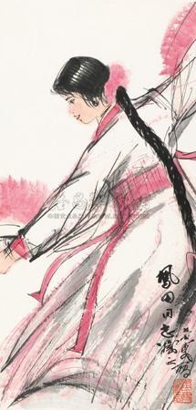 扇舞图 by huang zhou