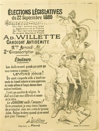 élections l'égislatives/du 22 septembre by adolphe léon willette