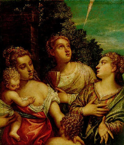 allegory of the theological virtues faith hope and charity by benedetto caliari