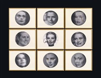 cary grant embroidered grace kelly's tears (in 9 parts) by francesco vezzoli
