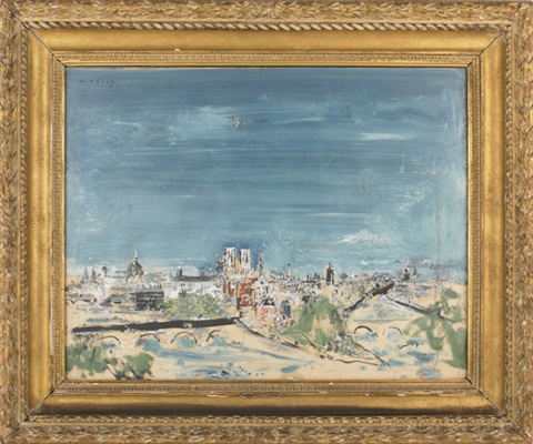 view of paris by wilhelm thöny