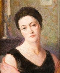 portrait de femme by emile ancelet
