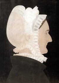 silhouette of lady in a white cap by ruth henshaw miles bascom