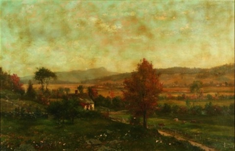 farm in autumn by george frank higgins