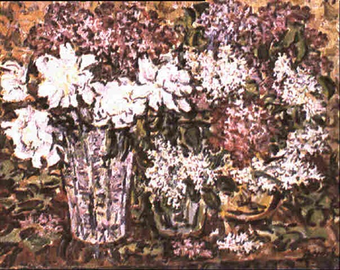 roses blanches et lilas mauves by rady rautovich yakubov