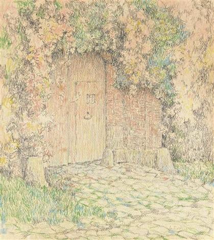 le portail de la maison rose, gerberoy by henri le sidaner