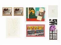 group of 7 prints by ronald brooks kitaj