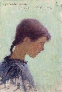 portrait de jeune fille by per ewert