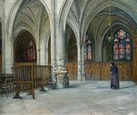 l'intérieur de l'église saint germain l'auxerrois by ferdinand sabatté