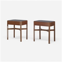 pair of nightstands from hotel lorena, grosseto by luisa and ico parisi