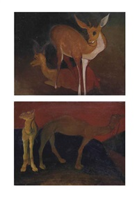 deer (+two camels; 2 works) by g. m. solegaonkar