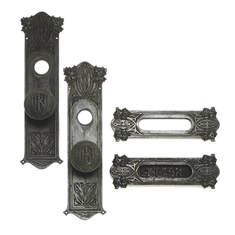 set of door hardware from the union trust building st louis missouri by dankmar adler