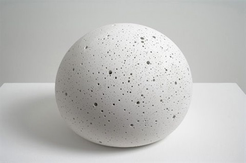 small plaster orb by tom friedman