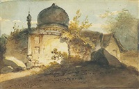 a ruined temple, bengal by george chinnery