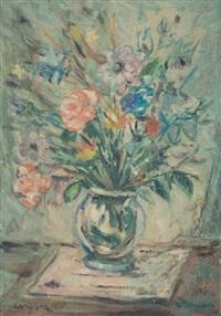 bouquet de fleurs dans un vase by antonio corpora