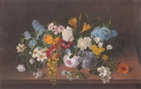 still life of a summer bouquet by pierre langlade