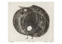 birds and fruits (small) by tetsuo komai