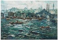 karaköy'den eminönü'ne bakiş by ibrahim safi