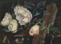 stillleben mit rosen by andré jean evard