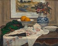 Composition à l'éventail et aux objets domestiques, 1915