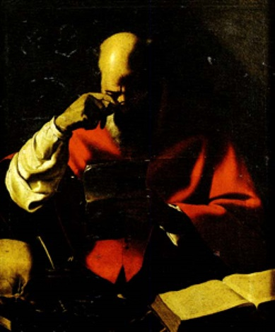 saint jérome à lencrier by georges de latour