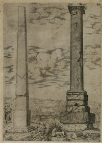 colonna antonina con ... obselischi... (+ 4 others; 5 works) by antonio lafreri