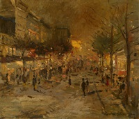 paris at night by konstantin alexeievitch korovin