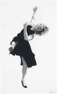 ohne titel (2 works from men in the cities) by robert longo