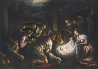 the adoration of the shepherds by leandro da ponte bassano