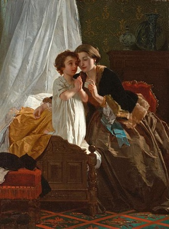bedtime prayer by eugène ernest hillemacher