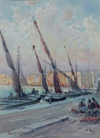 vue du port de sousse, tunisie by émile appay
