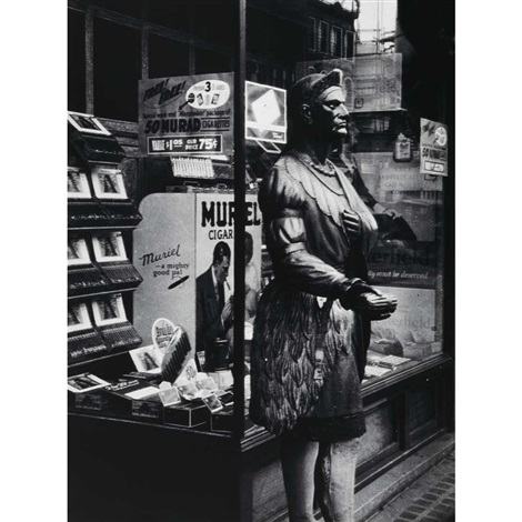 cigar store indian by berenice abbott