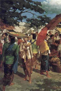 figures on a pasar by hasim